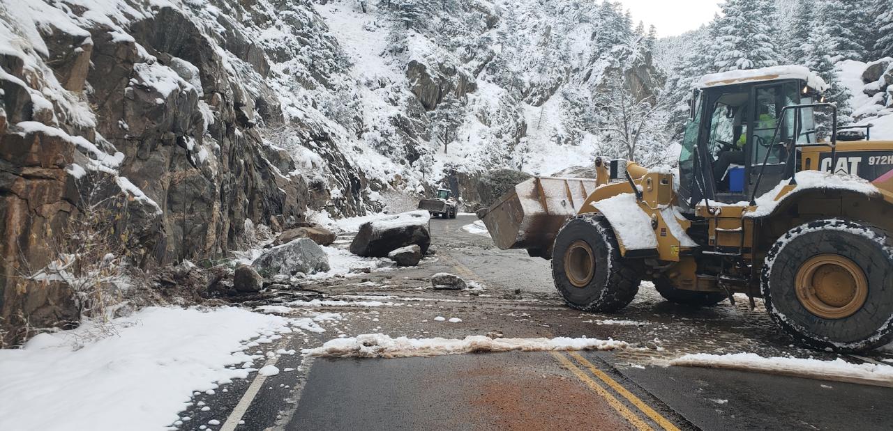 Boulder Canyon rockslide Oct 24 2019