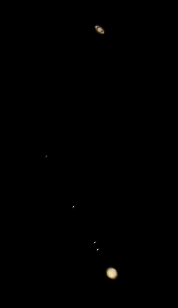 Saturday Jupiter and Saturn