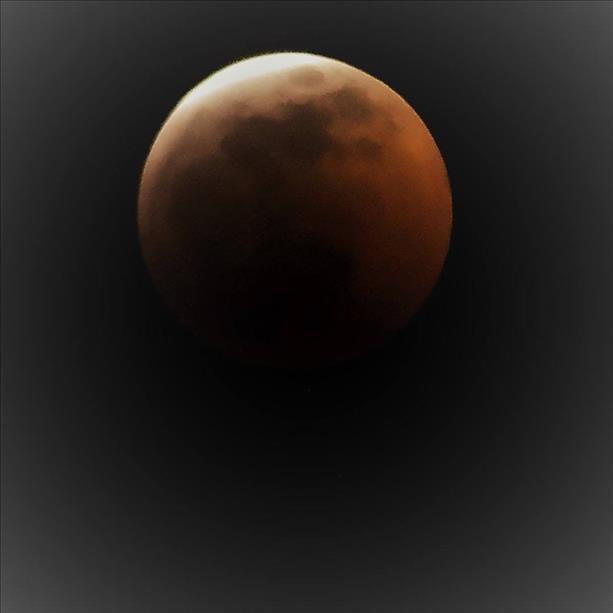 Eclipse over Lake Worth.  Courtesy of Lori J Hennick