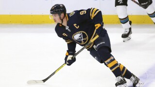 Eichel has four-point night as Sabres top Sharks 4-3 in OT