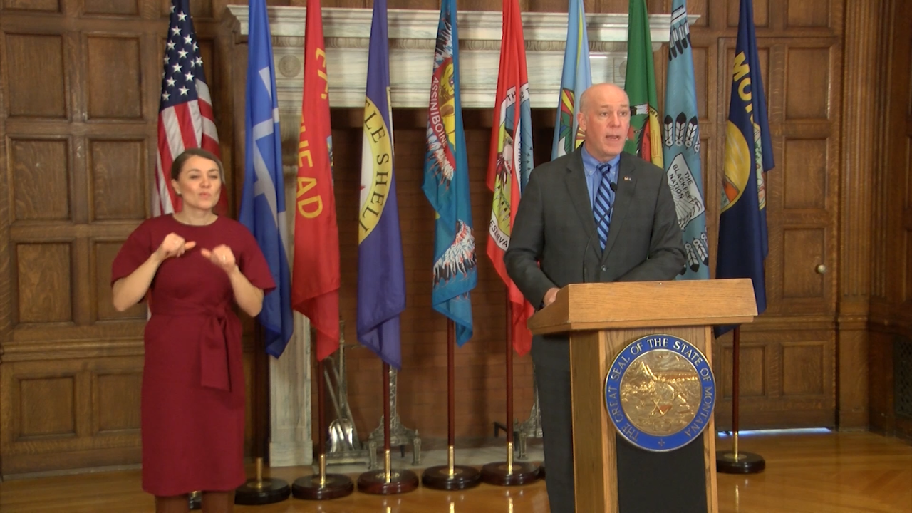 Gov. Greg Gianforte at COVID-19 press conference