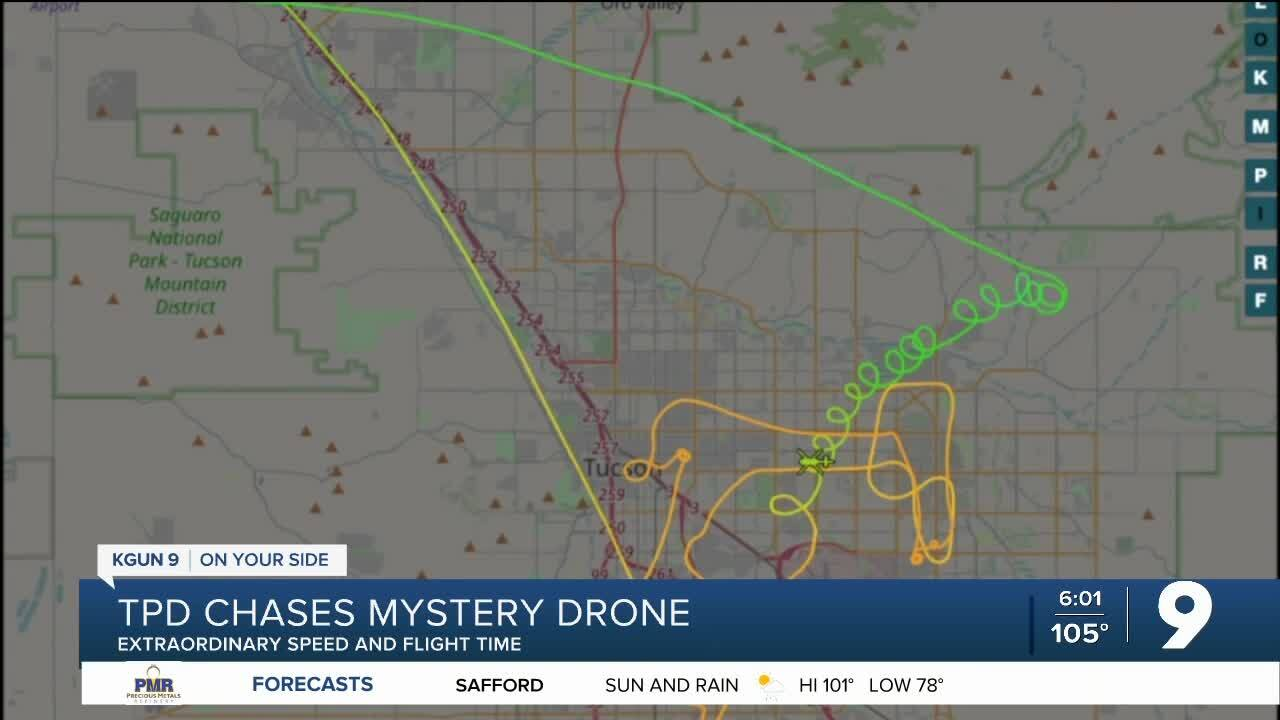 TPD chases mystery drone
