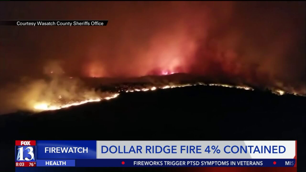 Roads closed, 90 homes burned, 1,000 threatened as Dollar Ridge Fire burns 42,000 acres at 4% containment