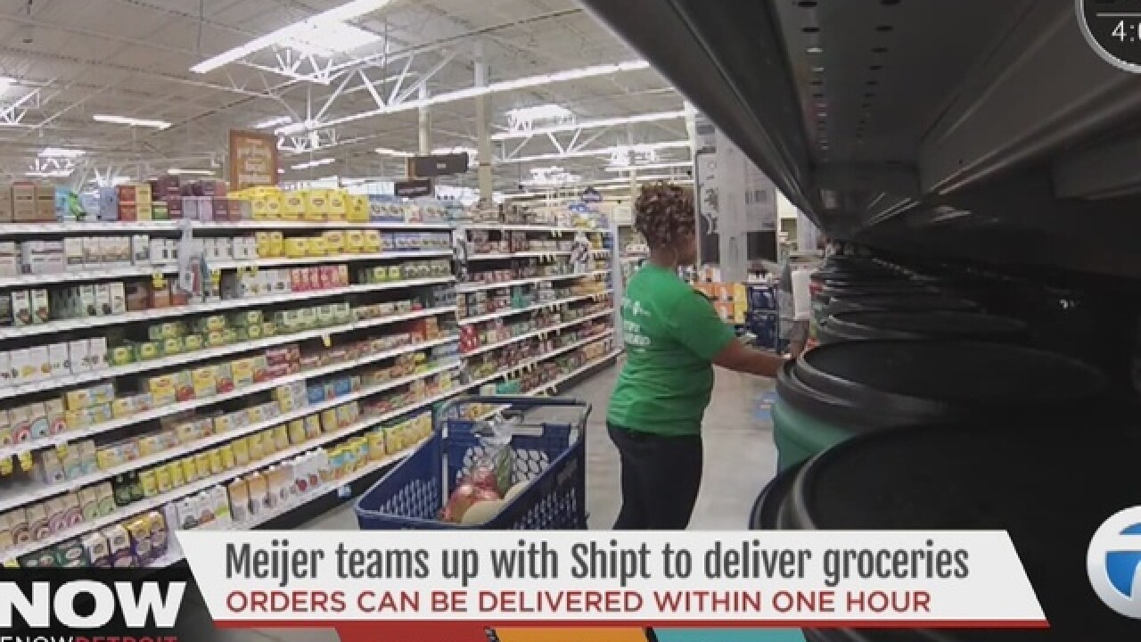Meijer offers home delivery in southeast MI