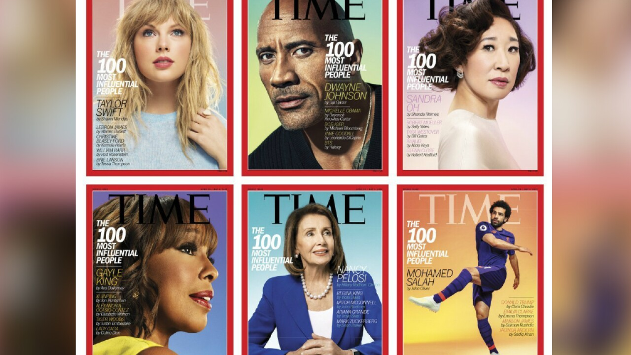 Taylor Swift, Nancy Pelosi and Tiger Woods made Time's 100 most influential people list