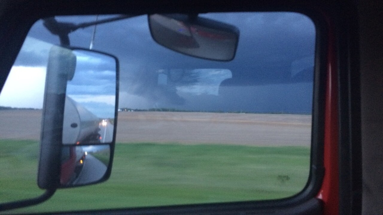 PHOTOS: Storm clouds, hail