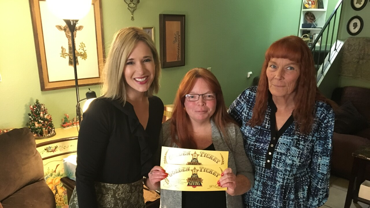 Jennifer Zelez gets surprised for 13 Days and Knights of Giving