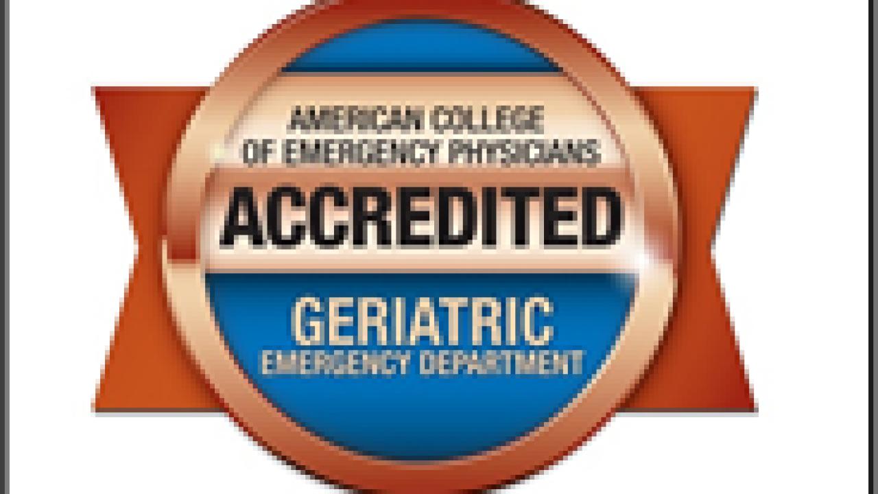 Geriatric Emergency Department Accreditation Banner UMC