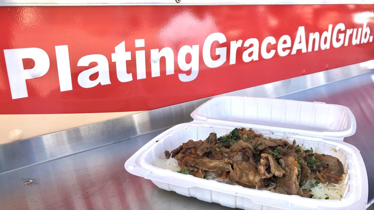 Plating Grace and Grub food.JPG