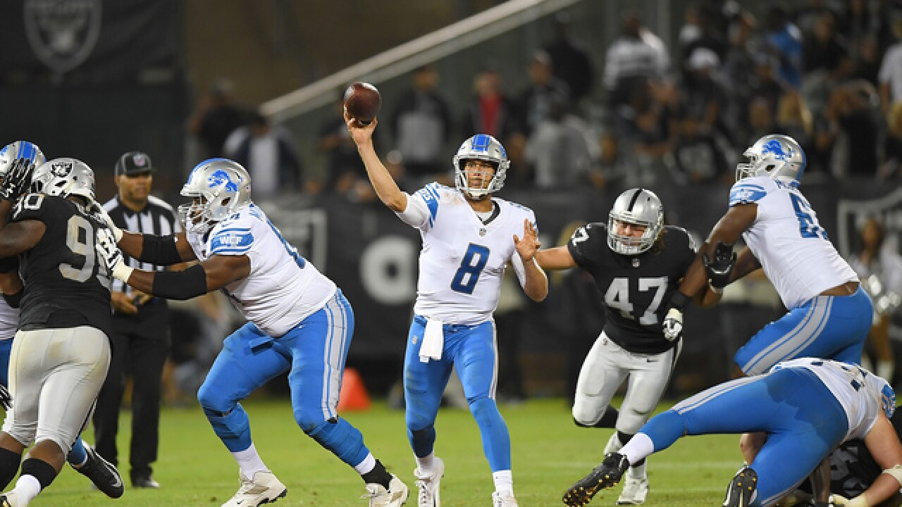 Raiders beat Lions in Jon Gruden's return to sideline