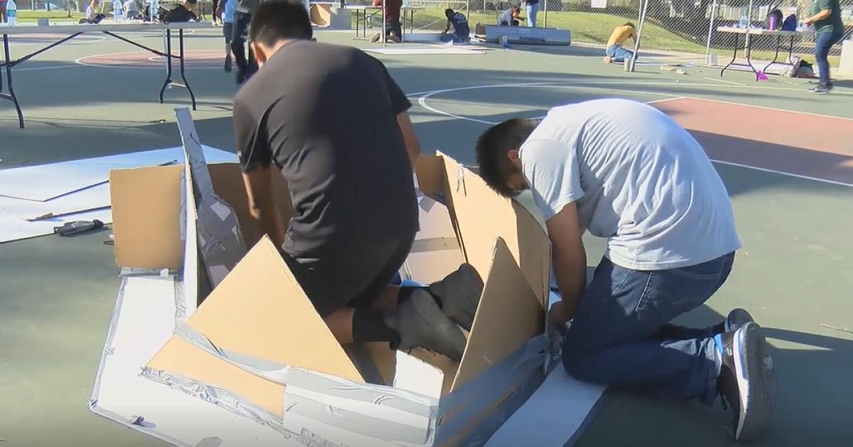 Santa Maria teens compete in Cardboard Boat Regatta