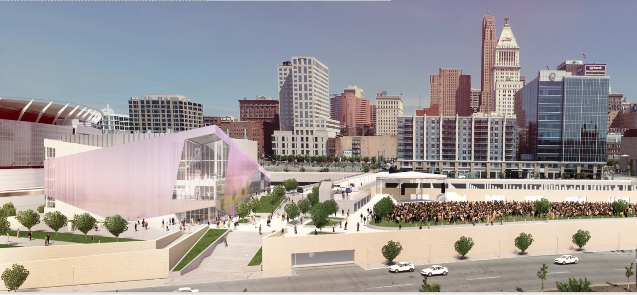 Proposed concert venue at The Banks