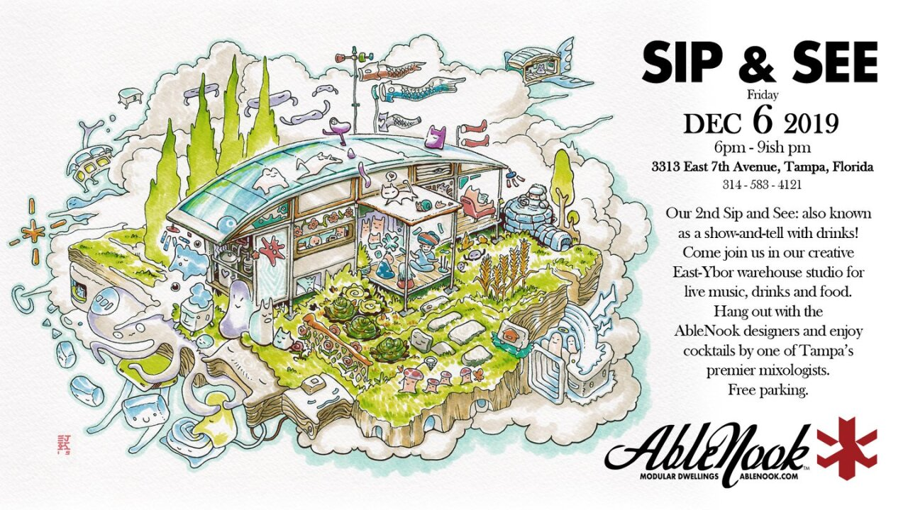 AbleNook Sip and See invite