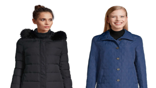 Lands' End winter outwear is on sale from $7.99