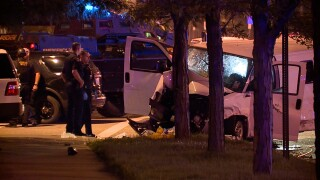 Cleveland police SWAT involved in a crash.