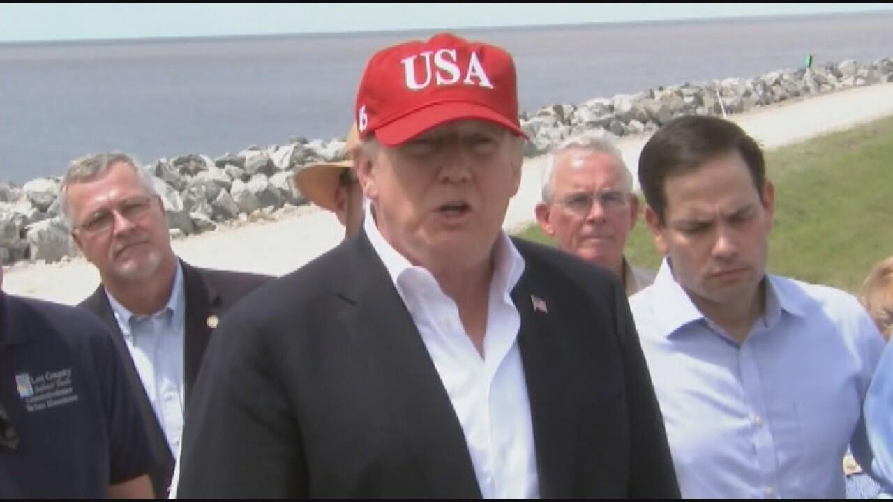 2019-04-01 If border closes-Trump w hat.jpg