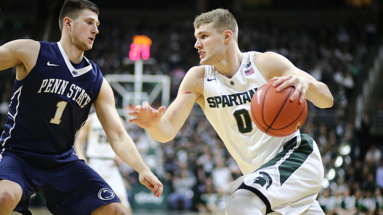 No 2 Michigan State loses F Kyle Ahrens with foot injury