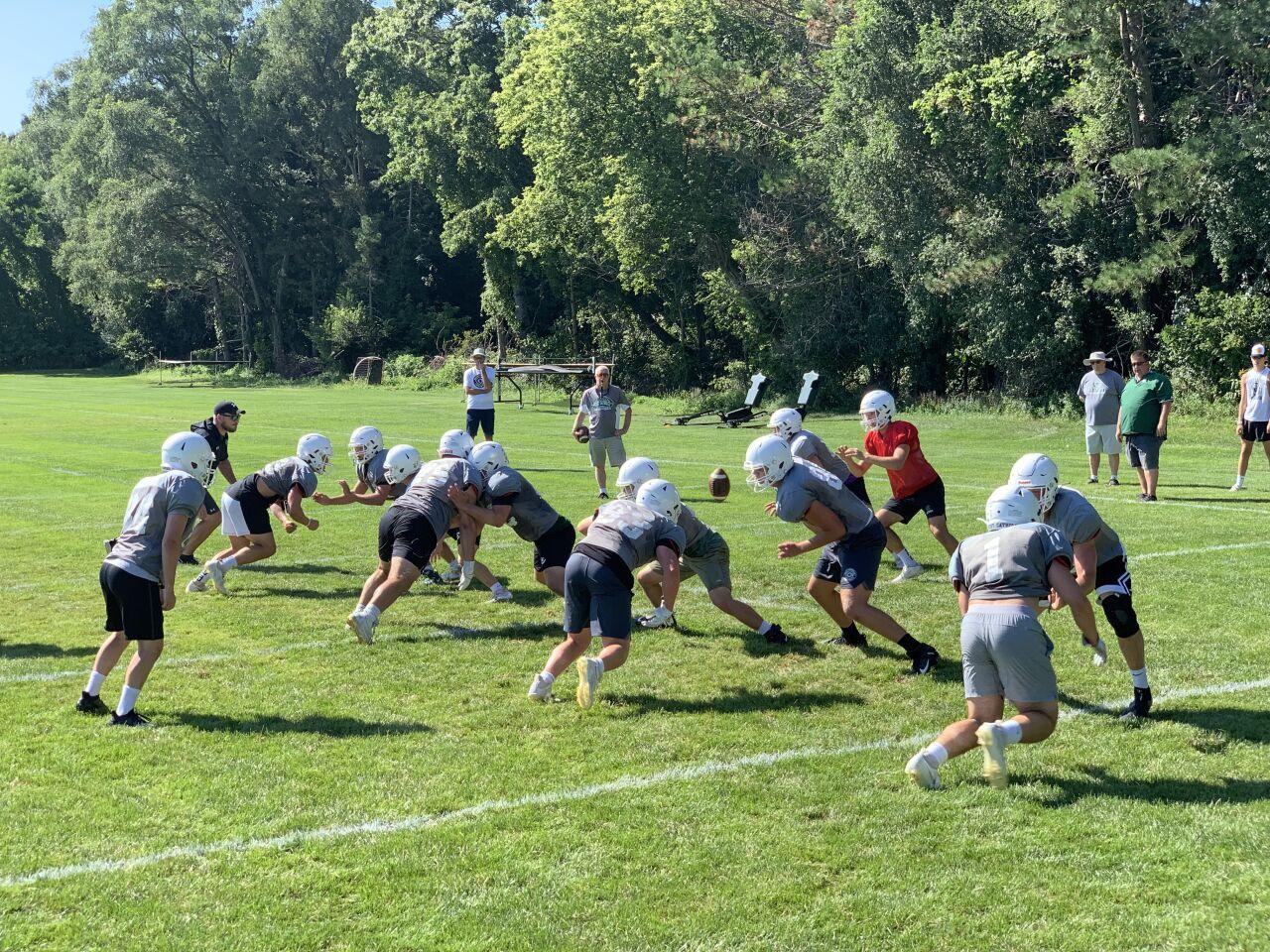 West Catholic football practice