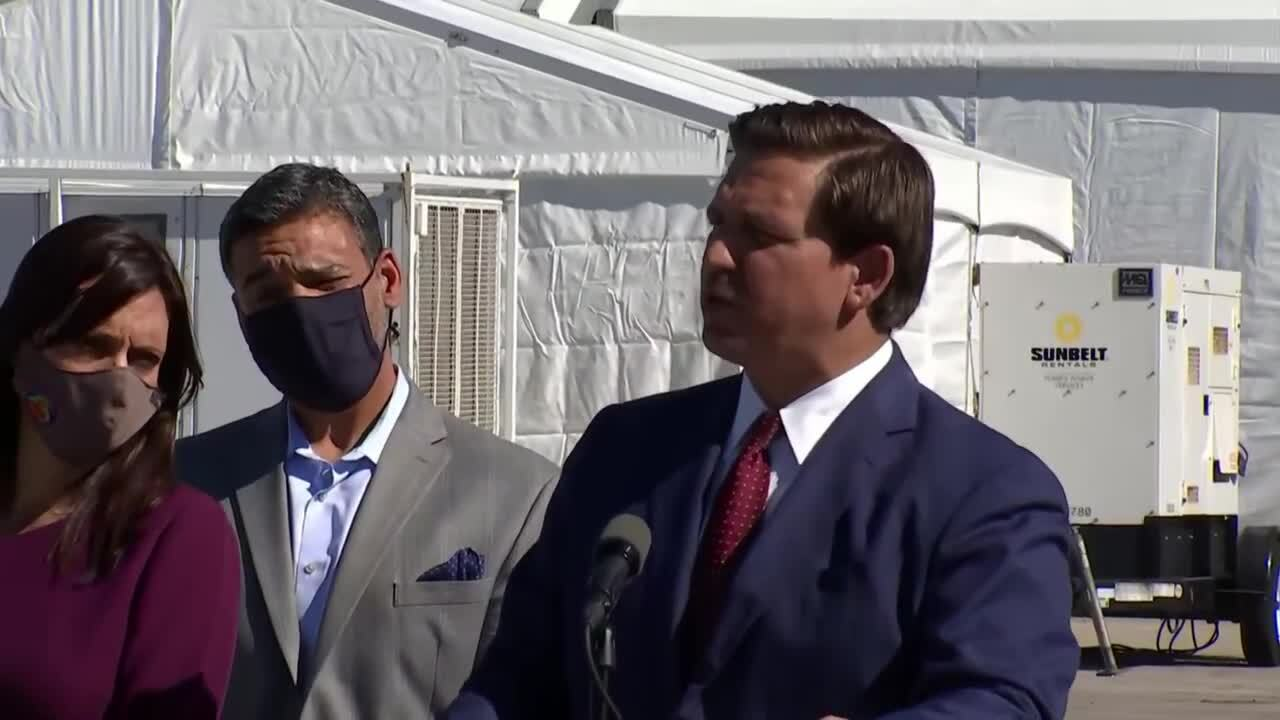 Gov. Ron DeSantis says national championship game won't disrupt vaccinations at Hard Rock Stadium site