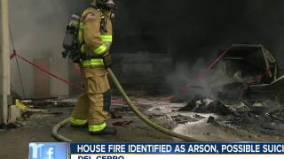 House fire identified as arson