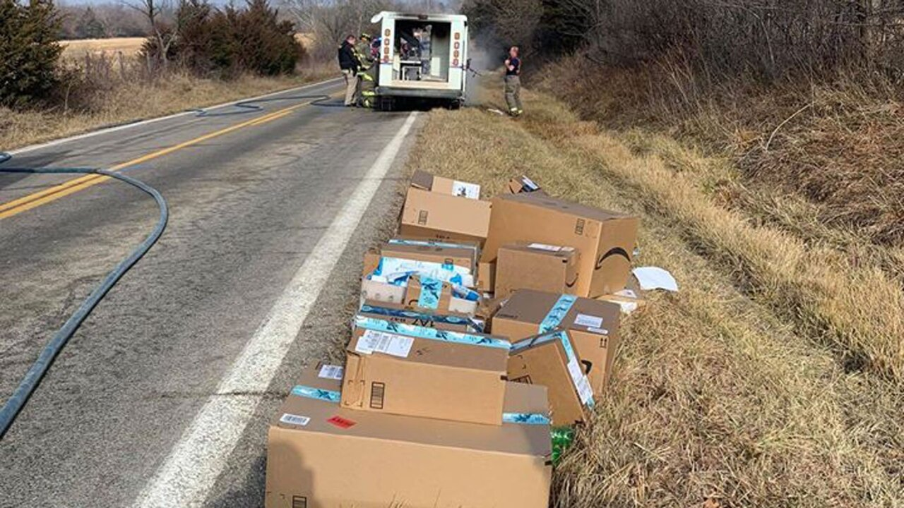 When his mail truck caught fire, a postal officer's quick action saved Christmas for many families