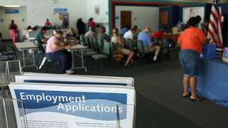 Unemployment benefits claims filed over ten weeks same as previous three years total combined