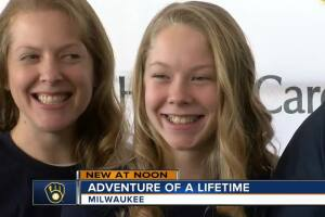 Two Aurora Health Children's patients head to meet the Brewers at Spring Training