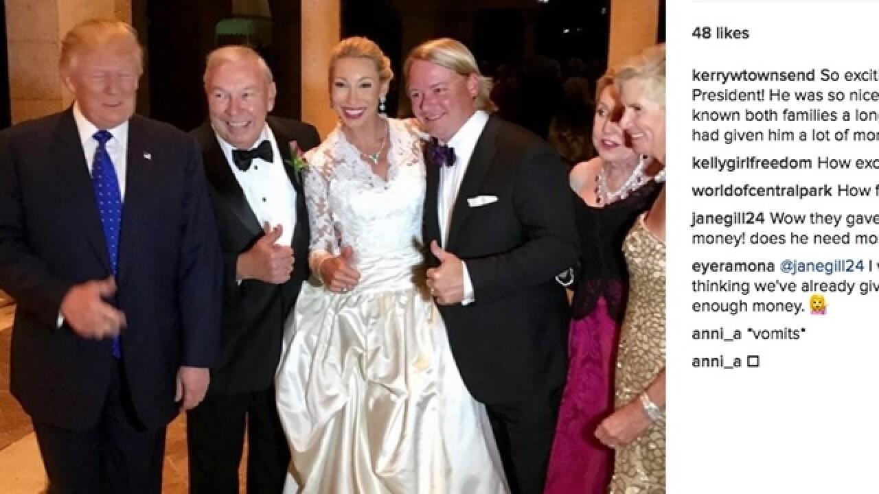 Trump Crashes Wedding.President Donald Trump Crashed Carl Lindner Iv S Wedding New York