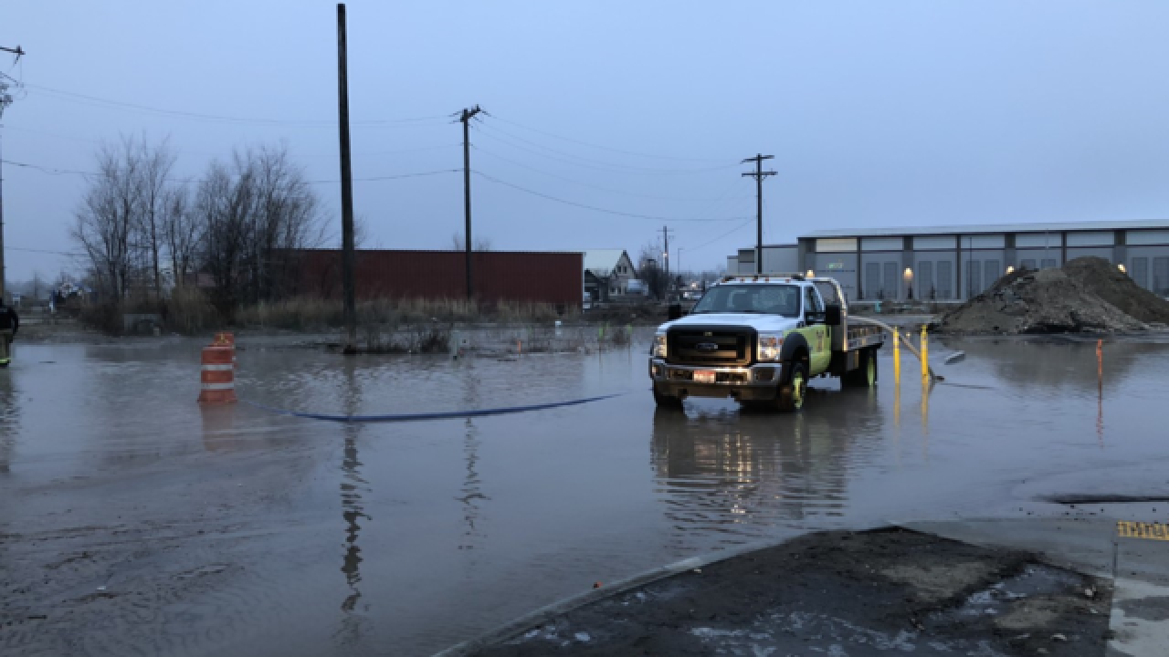 Homes evacuated after Eagle water main break