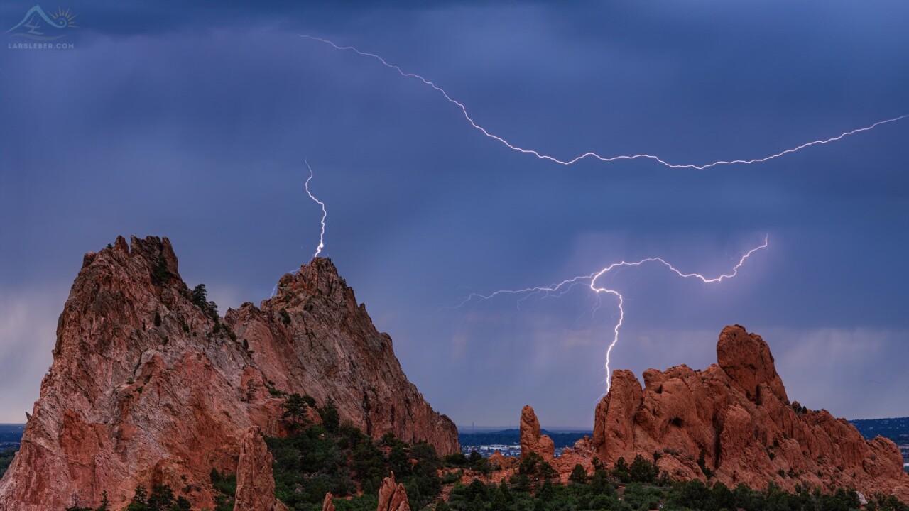 Garden of the Gods lightning
