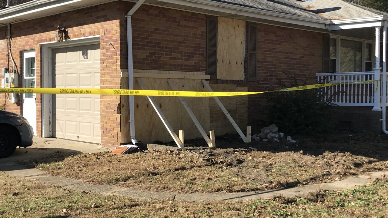 Chesapeake home severely damaged by hit-and-rundriver