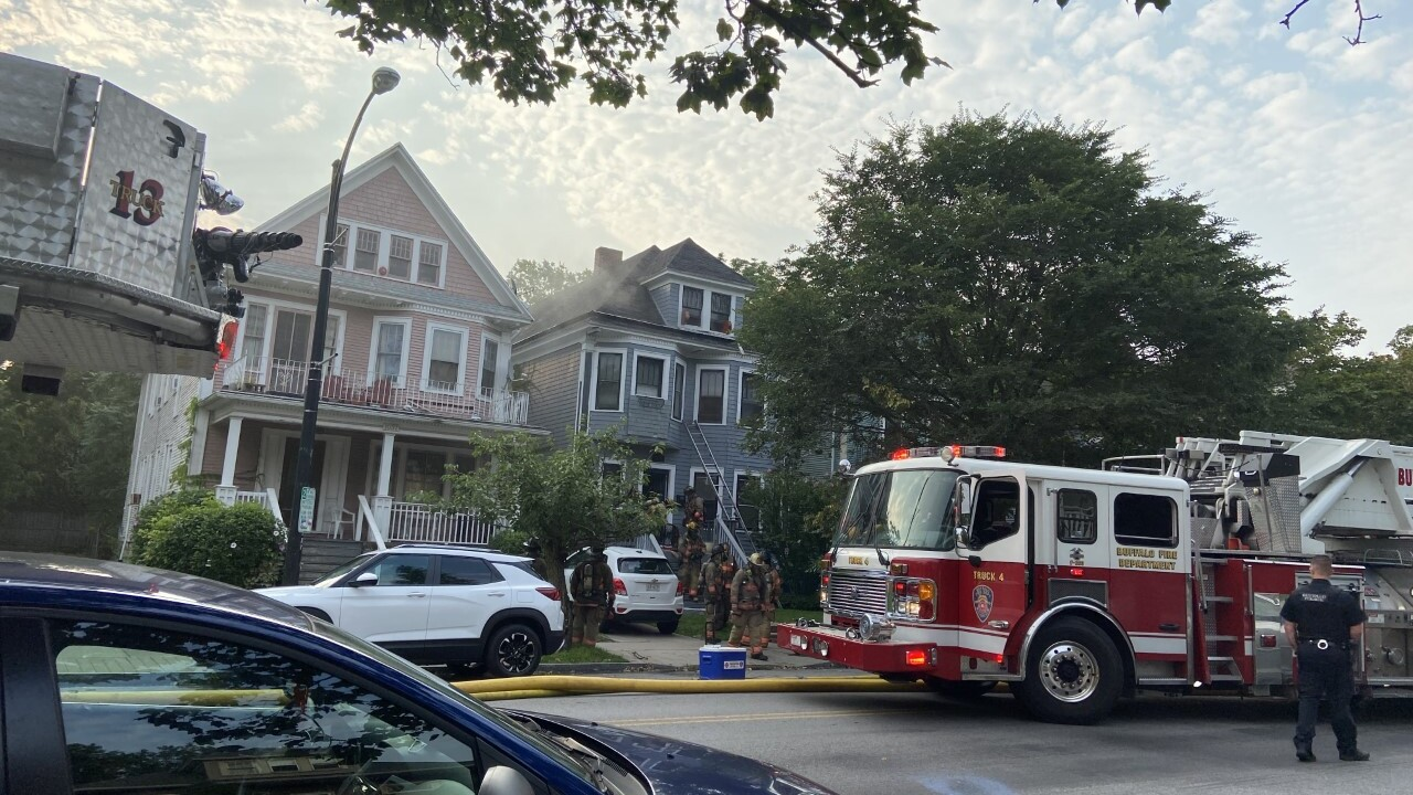 Buffalo Firefighters say a house was damaged in a fire early Monday morning in the city's Elmwood Village.