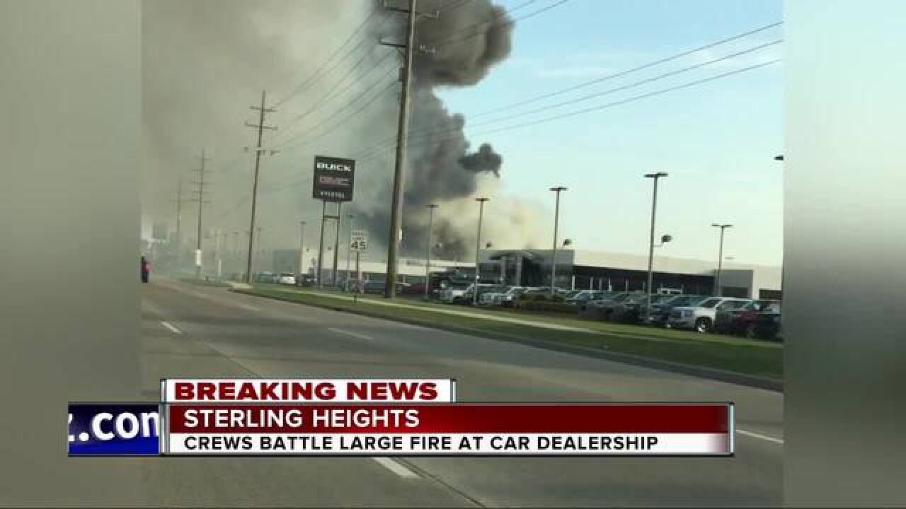 Fire At Metro Detroit Buff Whelan Chevrolet Could Be Largest