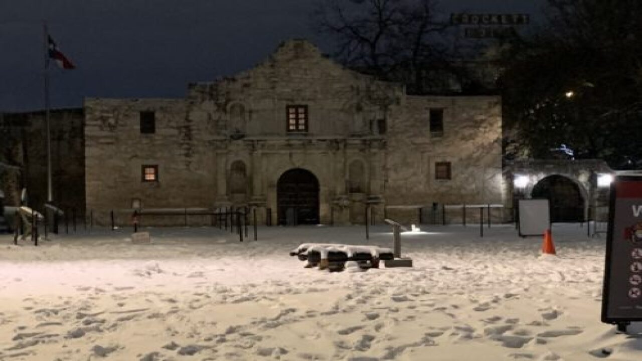 Texans React To State's Huge Snowfall