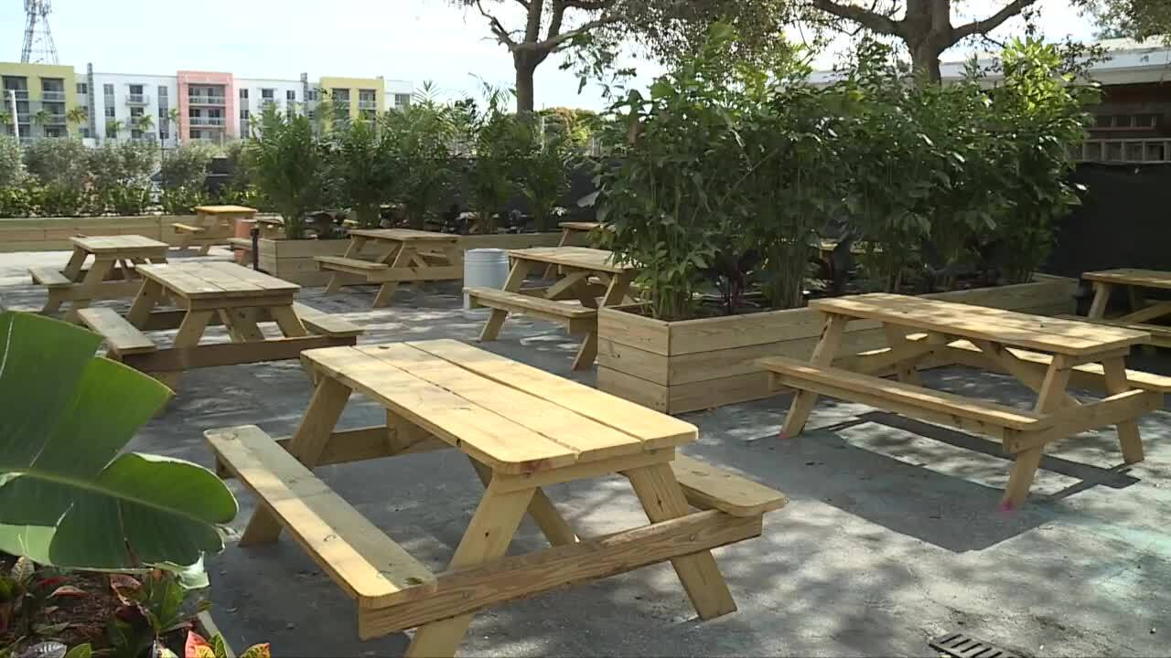 outdoor space at The O.G. bar in Delray Beach