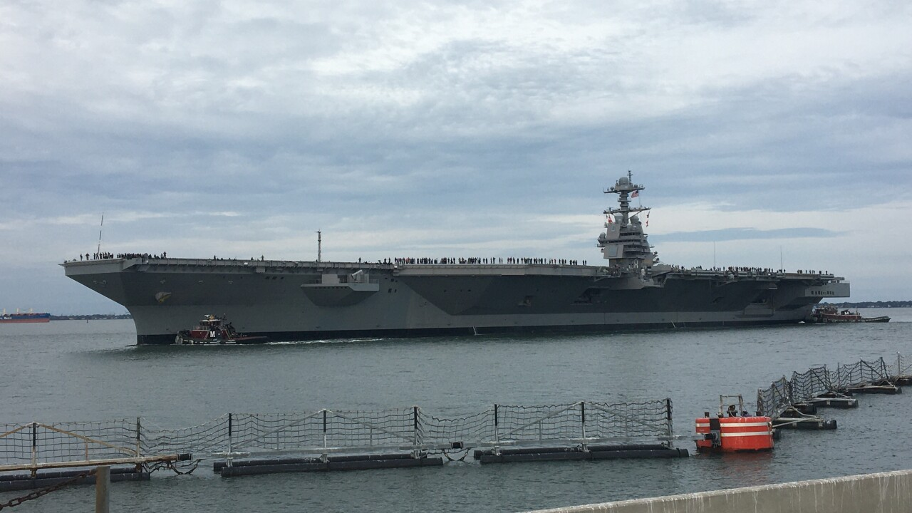 USS Gerald R. Ford returns to Naval Station Norfolk