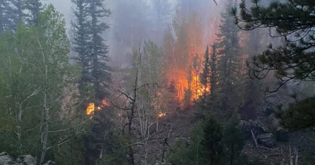 Wildfire in Dixie National Forest forces evacuations