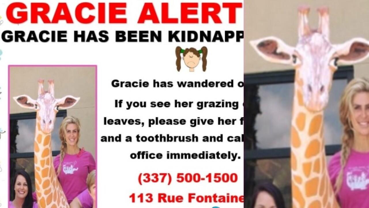 Gracie Alert missing statue.jpg