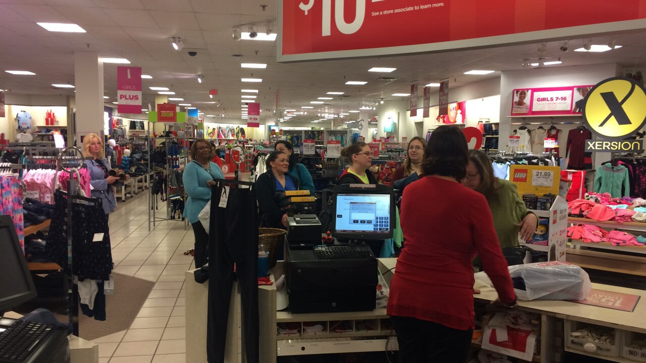 Shoppers dealing with holiday rush