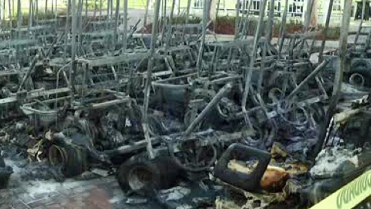 Golf carts destroyed where Beckham wants stadium