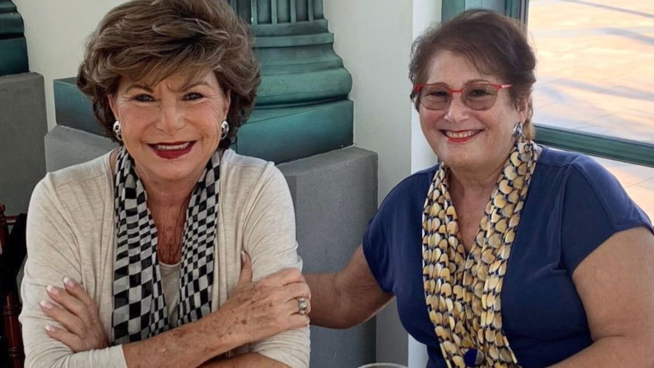 Joan Schnell (right) and her friend Arlene