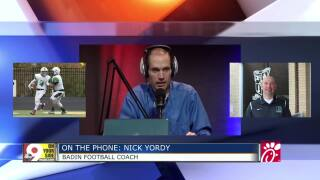 Badin Football Coach Nick Yordy on the High School Insider podcast