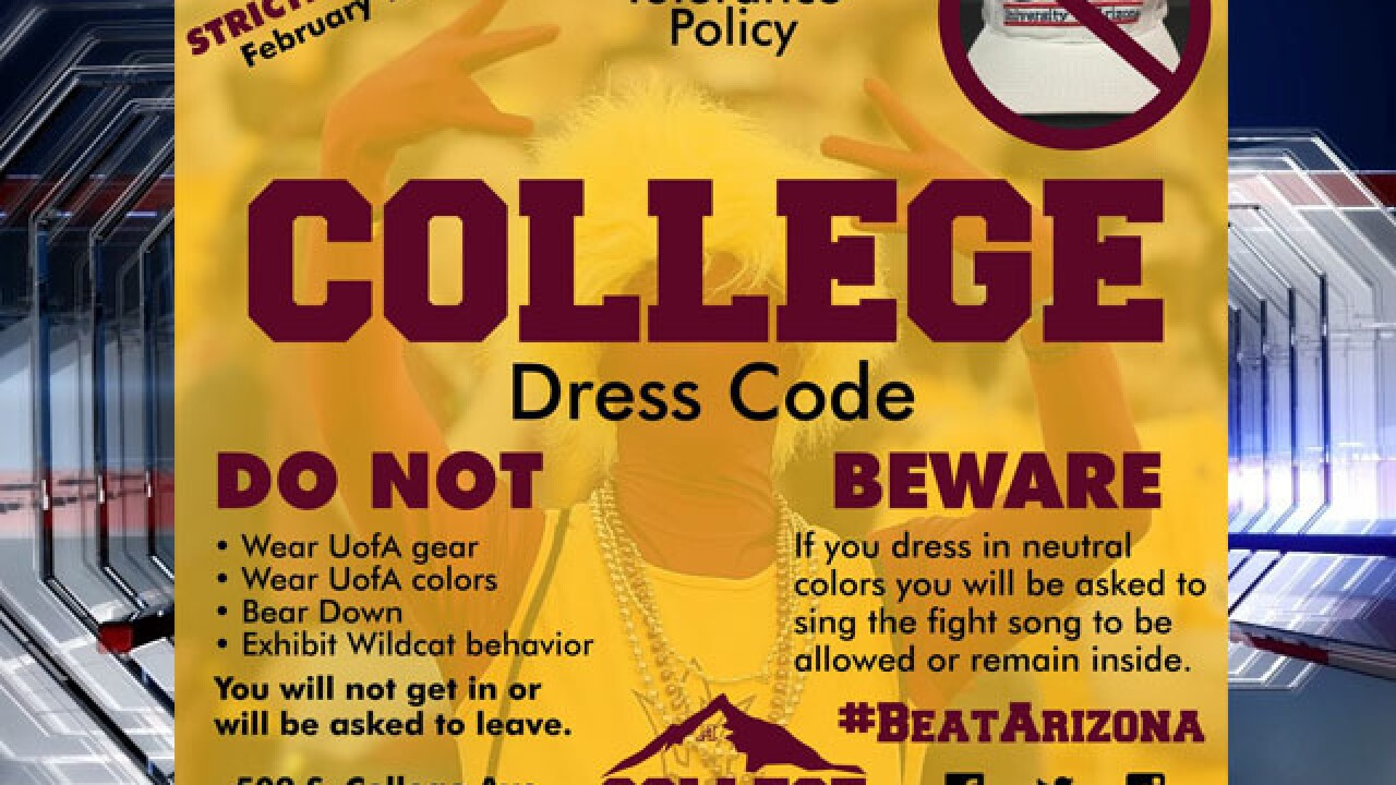 Tempe bar bans UA fans during UA-ASU basketball game