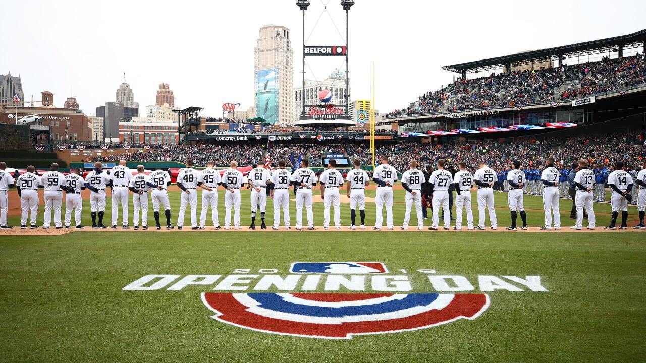 Detroit_Tigers_home_opener_Kansas City Royals v Detroit Tigers