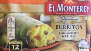 55K pounds of frozen El Monterey breakfast burritos recalled due to plastic pieces
