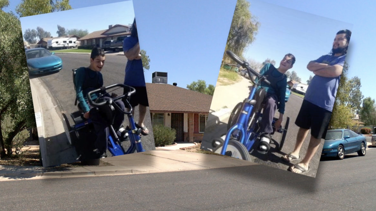 Special needs bike stolen from Mesa family