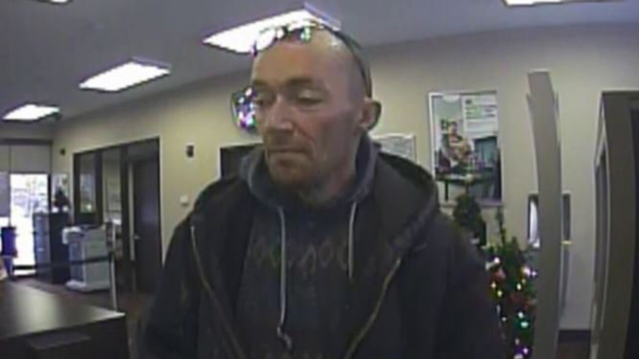Police looking for suspect in SLC bank robbery