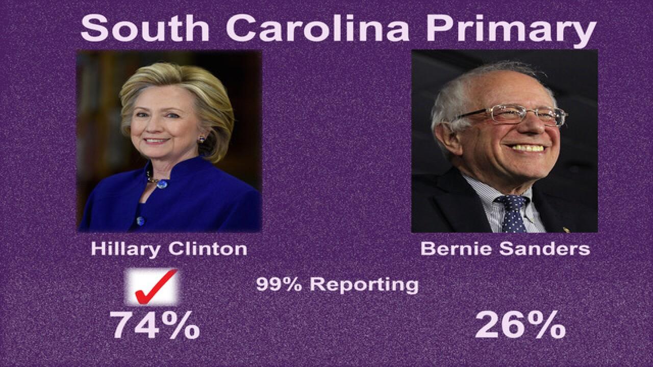 Hillary Clinton wins Saturday's SC primary