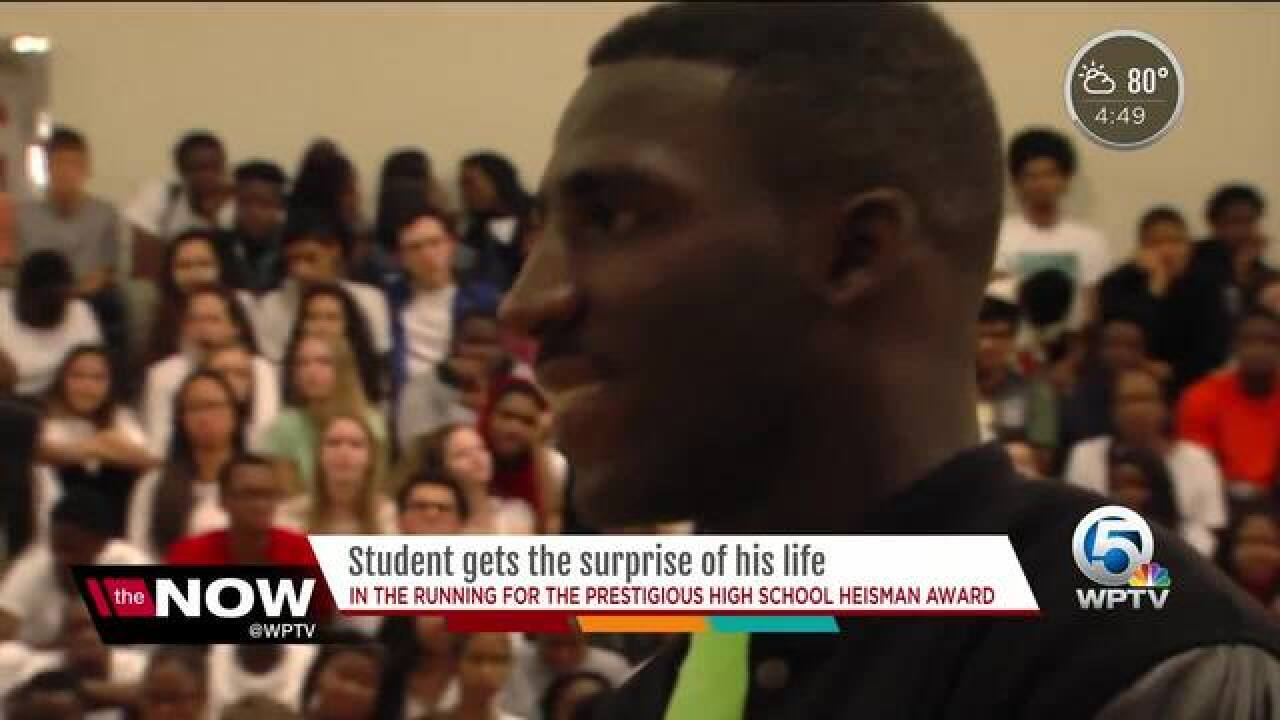 Delray student named finalist in Wendy's High School Heisman Award