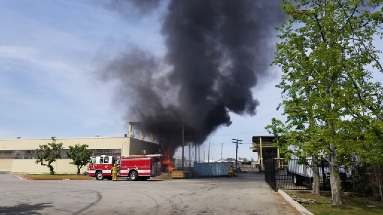 Fire crews put out flames at Gleaners building